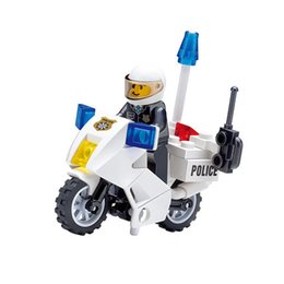 $enCountryForm.capitalKeyWord UK - 2017 New 30pcs Police Patrol Car Assembling Bricks Building Blocks Sets Christmas Gifts Toys for Children Kids Boys