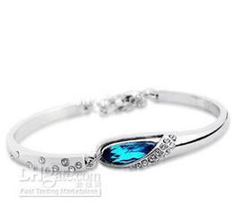 $enCountryForm.capitalKeyWord Australia - New listing beautiful fashion solid silver charm Swarovski Elements crystal bracelet cute pretty holiday gift Free Shipping AB2-925