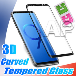 Note lite online shopping - 3D Curved Tempered Glass For Samsung Galaxy S10 Lite S9 Note S8 Plus Full Cover Screen Protector No Package