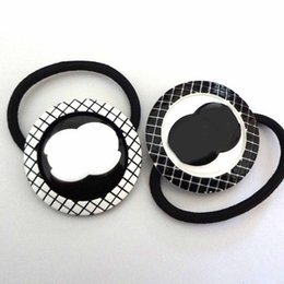Heads Bands For Girls NZ - New style acrylic CC lattice round simple hair rope hair ring leather band girl head ornaments hair ornaments accessories for counter gifts