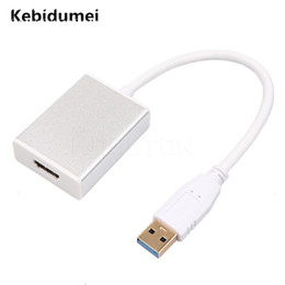 hdmi cable laptop usb 2019 - Kebidumei Ta 1080P USB 3.0 to HDMI Converter Adapter Cable Male to Female Multi Display Graphic Adater for Desktop Lapto