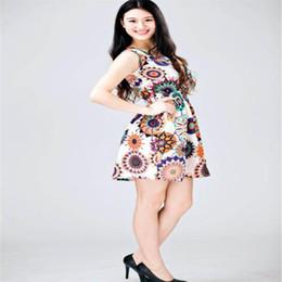 8877f5ae13b Chiffon 2019 Plus Size Women Summer Dress ukraine Lady Casual Sexy  Sleeveless O-Neck Sunflower Print beach Dresses Mini Vestidos