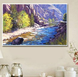 Pattern Decor Australia - Mountain River Landscape 5D Diamond Cross Stitch Pattern Embroidery Mosaic Resin Full Drill Home Decor DIY Painting Without Frame