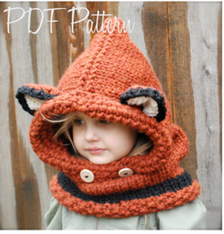 $enCountryForm.capitalKeyWord NZ - 2018 New Children Kawaii Fox Cat Shawl Ear Cap with Windproof Scarf Set Beanies Cap Baby Kids Girls Knitted Warm Shapka Hats