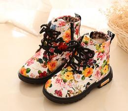 443667322 Flor rota Martin botas 2018 nuevas botas de nieve zapatos para niños botas  de piel de laca solo algodón opcional envío gratis