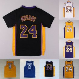 135ae4013  24 Kobe Bryant Jersey 8 Short Sleeve Bryant Los Angeles 23 LeBron James  100% Stitched Basketball Jerseys Fast Shipping