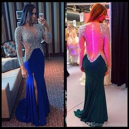 $enCountryForm.capitalKeyWord NZ - 2018 Royal Blue Prom Dresses Long Mermaid Gowns Evening Party Dress Withe Beading Formal Gowns