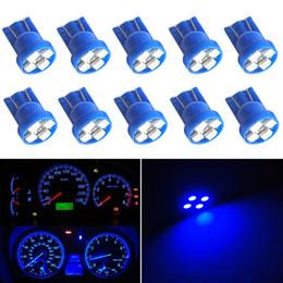 $enCountryForm.capitalKeyWord Australia - 100pcs Car T10 168 Blue Gauge Instrument Cluster Speedometer Dash 4-SMD Car LED Light Bulbs Car-styling