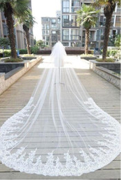 $enCountryForm.capitalKeyWord UK - 2018 Bling Bling Crystal Cathedral Bridal Veils Luxury 300*200 Long Applique Beaded Custom-Made High Quality Wedding Veils With Comb