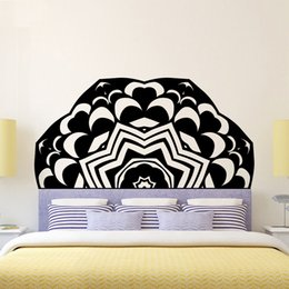 bedding 3d effect Australia - Creative DIY 3D Effect Headboard Sticker Wallpaper Bed Bedside Mandala Vinyl Kids Room Bedroom Giant Headboard Flower Removablr Home Decor