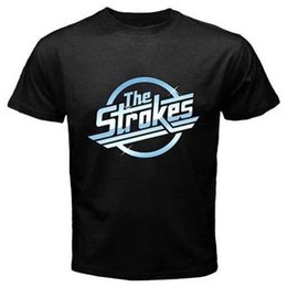 STROKES Metal Punk Rock Band Tee erkek Siyah Tee T-Shirt Boyut S 3XL indirimde