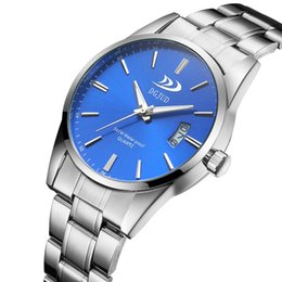 2018 dgjud brand mens alloy watch waterproof korean fashion casual calendar quartz watch mens gift
