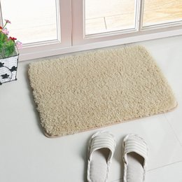 $enCountryForm.capitalKeyWord Canada - Velveteen Cushions For Sitting Room Mat Doormat Bedside Mat Bedroom Bedside Carpet Kitchen Bathroom Anti-skid Absorbent Mats Bathroom Rug