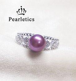 Zircônia cúbica anel de prata esterlina sólida, anel duplo de montagem, anel em branco sem pérola, jóias diy.gift diy