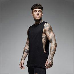 $enCountryForm.capitalKeyWord Australia - Sport Muscle Vest Sexy Men Running Gym Fitness Bodybuilding Tanktop Loose Undershirt Cotton Sweatshirt Male Sleeveless Shirt Top