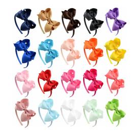 Babies Hair Wearing Headbands Australia - Christmas Baby Childrens Fashion Bow Hair Band Headband Stick Hair Bows Pattern Hairbands Headdress Wearing Girls Hair Accessories