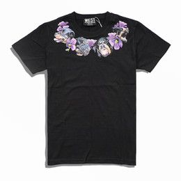 $enCountryForm.capitalKeyWord UK - 2018 new fashion brand high-end men Casual neckline Dog necklace purple Flowers printing T-Shirts men cotton round neck short sleeve t shirt