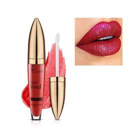 $enCountryForm.capitalKeyWord UK - Hot Pudaier Non-stick Cup Nutritious Liquid Lip Gloss Glitter Flip 18 Colors Glitter Pigment Diamond Waterproof Liquid Lipstick gift