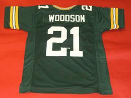 c4254f6f7b Cheap retro   21 CHARLES WOODSON CUSTOM GREEN MITCHELL NESS jersey para  hombre de costura de gama alta tamaño S-5XL camisetas de fútbol