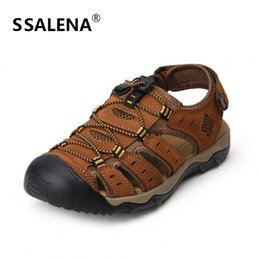 Sneakers Cut Out Australia - Mens Soft Breathable Fisherman Sandals Male Summer Anti-Slippery Cut Outs Sneakers Men Outdoor Leather Gladiator Shoes AA51619