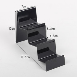 wholesale card shows UK - Wholesale 4 High Quality Black Clear Plastic Wallet Display Show Stand Card Holder 3 Tiers