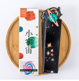 mini stationery sets Australia - 30 pcs Mini cosmos bookmark set Starry sky bookmarks for book kids Stationery Office School supplies gift marcador de livro F960