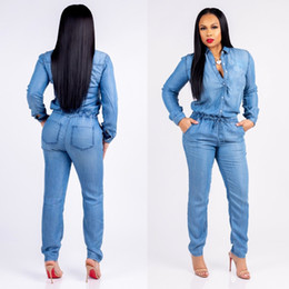 $enCountryForm.capitalKeyWord Australia - Spring Women Blue Buttons Denim Long Jumpsuits Plus Size 3XL Full Sleeve With Pockets Outfits Jeans Overalls Salopette Femme