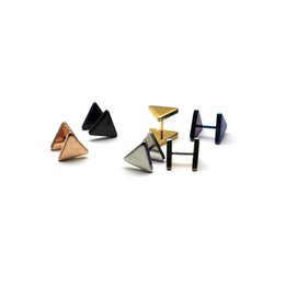 China Alisouy KPOP BTS Bangtan Boys Album Double Triangle Stud Earrings Korean Jewelry Accessories For Men And Women Earring suppliers