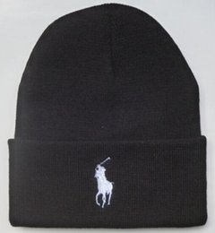 WindoW toppings online shopping - Embroidery Designer Skull Caps Equestrian Woolen Knitted Cap Fashion Men Women Portable Spring Autumn Beanies Window Shopping polo Golf Ccww