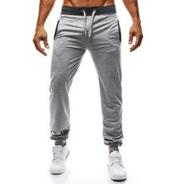 China 2018 Mens Hip Hop Jogger Pants Drawstring Sports Joggers for Male Casual Daily Sweatpants Sport Pants Men Gym rack Training Joggings supplier mens waist suppliers