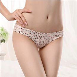 e8779d5d0b7b Ice Silk Women Seamless Underwear Female Leopard Pattern Sexy Brief Lace  Transparent Panties Women Big Plus Size Lingerie