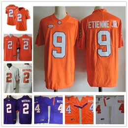 a4a649d96 NCAA Clemson Tigers Mens Youth  9 Travis Etienne Jr. 42 Christian Wilkins  Purple White Orange Stitched College Football Jerseys Size S-3XL