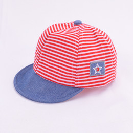 Wholesale Eaves Baby Baseball Cap Cotton Toddler Kids Hats Baby Boys Girls Beret strip comfortable Sun Hats snapback Caps