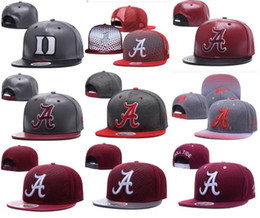 20c48a8392c Wholesale Alabama college Snapbacks hat Hip Hop America Sports Hat fashion  outdoor cap customized hats 10000+ sytles free shiipping