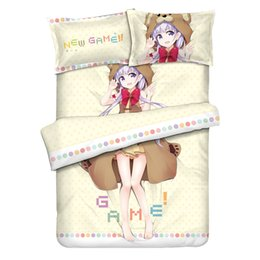 $enCountryForm.capitalKeyWord NZ - NEW GAME! Suzukaze Aoba Japan Cartoon Anime Children's Boys Bedding Set Size Bedroom Pillowcase For Kids Gift Bedcover 4PCS