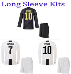 73959ecf9dd 2018 Ronaldo home long sleeve soccer uniform DYBALA HIGUAIN MARCHISIO away  thai quality football sets men s full sleeve sports jerseys suits