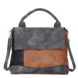 Patchwork Plaid Handbags NZ - Fashion Patchwork Pu Leather Handbags Casual Women Luxury Fashion Shoulder Bag Designers for Women 2018 Ladies Hand Bags