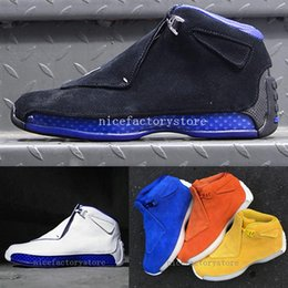 32e35aa2fa75a1 18 Black Royal ASG All Star Basketball Shoes 18s XVIII 86V 74G 4ME Orange  Ochre Racer Blue White Yellow Grey Suede Sport Sneakers