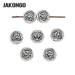 d54007de2365 ... granos del espaciador de plata antigua plateado suelta perlas para la  joyería que hace la pulsera accesorios DIY artesanía hecha a mano 25 unids    lote