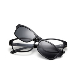 8fdb68698b Polarized Sun Glasses Fashion Sunglasses Clip On Eyeglasses Magnetic Clip  Men Women TR90 UV400 Brands Square Glasses Frame