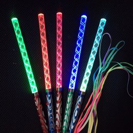 Wholesale Kids Glow Wands Australia - LED Cheer Glow Sticks Colorful Changed Flash Wand For Kids Toys Christmas Concert Birthday Party Supplies