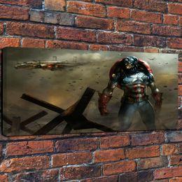 America Decor NZ - Framed Modern Art Giclee HD Print Art Captain America Air Combat Oil Painting Canvas Wall Home Decor Painting for Living Room Decor