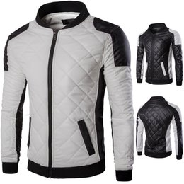 Chinese  Leather Jacket Motorcycle Jacket Young Men Slim Fit Blazers For Boys US Style White Black Synthetic Leather manufacturers