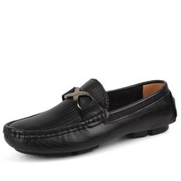Surprising Day New Arrival Men Casual Genuine Leather Driving Doug Shoes Slip-on Pure Color Breathable Flats Loafers Shoes Plus Size 35-49