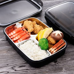 Green Box Containers Australia - Lunch Box Stainless Steel Portable Picnic Office School Food Containers With Compartments Microwave Bento Box Best Product