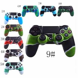 Discount ps4 cover skin - New Silicone protective case For PS4 Wireless Game Controller Joystick Gamepads Camouflage Protector Case Cover Skin For