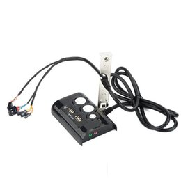 $enCountryForm.capitalKeyWord UK - Desktop Computer PC Case Power Supply on off Reset Button Switch with Double USB and Audio Ports for Office Internet Cafes