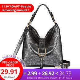 $enCountryForm.capitalKeyWord NZ - REALER brand genuine leather messenger bag women's shoulder bags female handbags hobo large capacity ladies casual tote bag D18102303