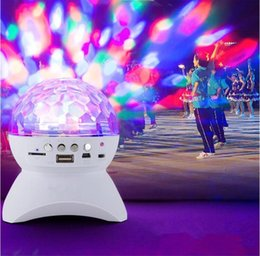 Wholesale Bluetooth Speaker LED Light Wireless Crystal Ball Disco Subwoofer Loudspeaker Speaker Support FM Dance Party Sound Box for Phones