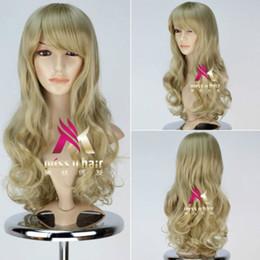 $enCountryForm.capitalKeyWord Canada - Fashion Long Dark Blonde Wavy Wig Kagerou Project Kano Syuuya Cosplay Wig Hair